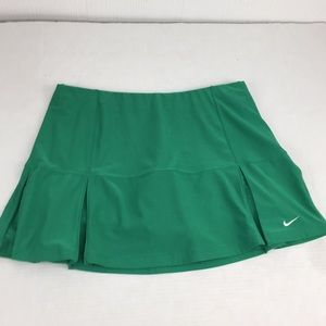 Nike Dri Fit Pleated green Tennis Skirt Skort Sz M